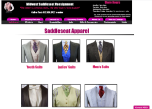 Screengrab of the Midwest Saddleseat website.