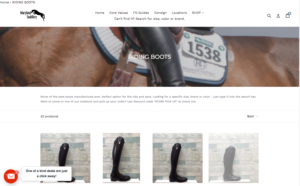 Screengrab of the Maryland Saddlery website.